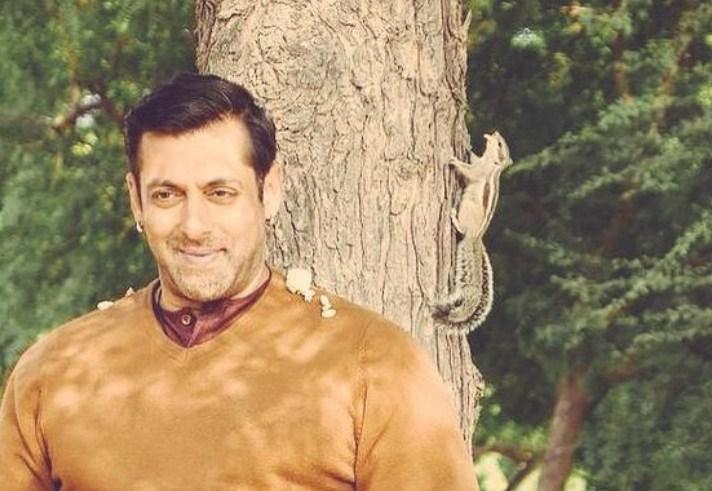 Salman Khan with Squirrel