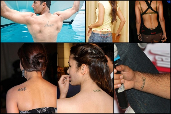 Popular Bollywood Celebrities with Tattoos