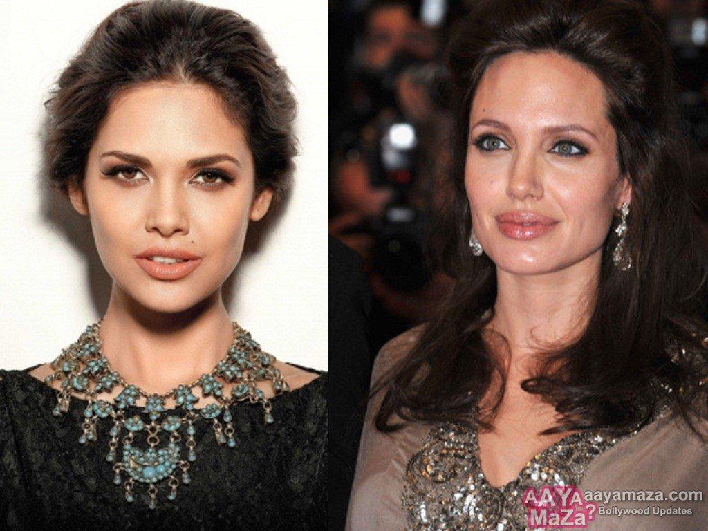 Esha-Gupta-Angelina-Jolie-filmymantra