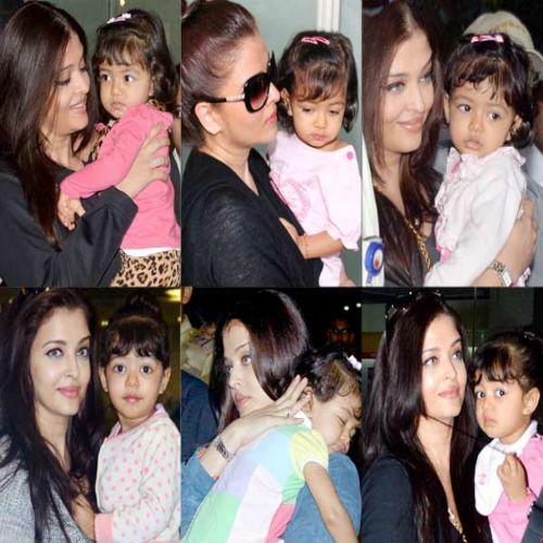 Aishwarya Rai Bachchans daughter Aaradhya Bachchan turns supermodel for mommy