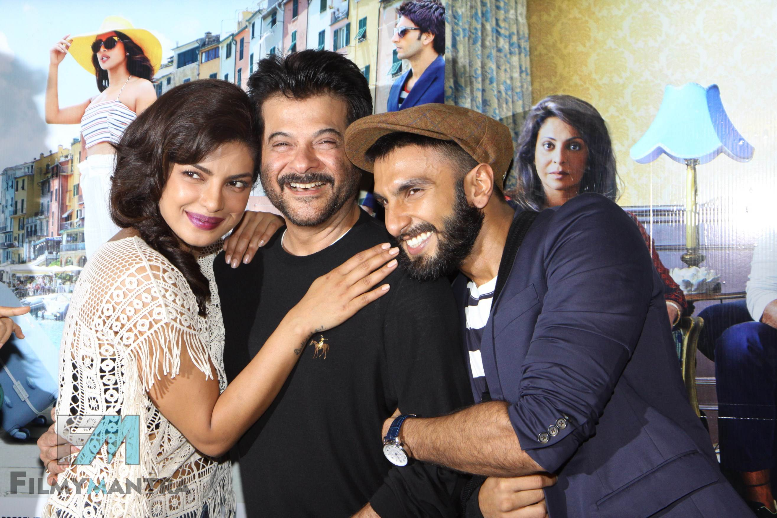 Ranveer singh, Priyanka Chopra and Anil kapoor at Dil Dhadakne Do trailer launch