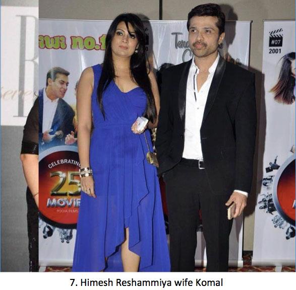 Himesh Reshammiya and wife Komal