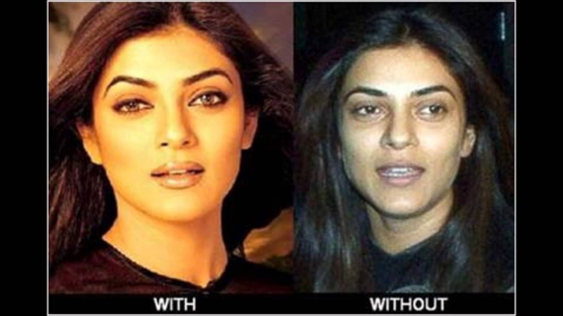 actresses without makeup bollywood before and after pics