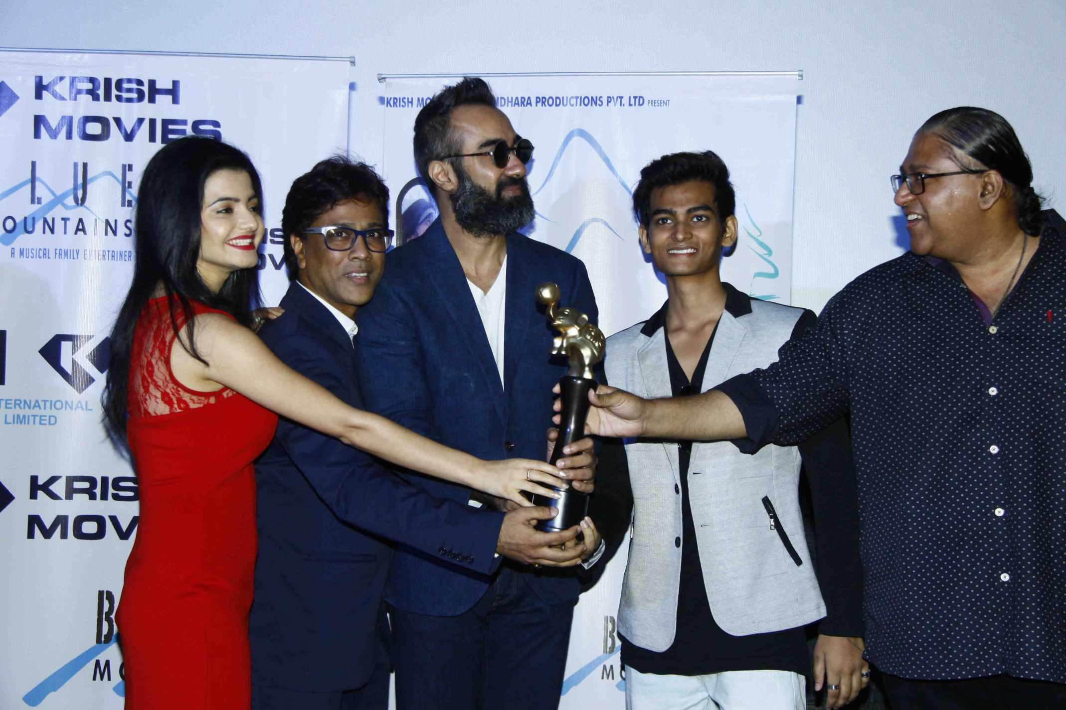 Blue Mountain film team success party