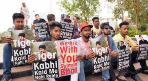 Salman Khan's fans sit on a hunger stike