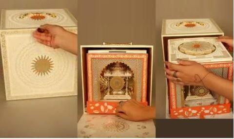 आकाश अंबानी की सगाई के कार्ड