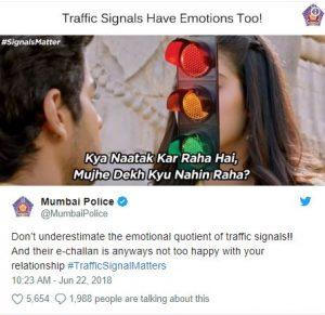 मुंबई पुलिस ने बनाया 'धड़क' का मीम,