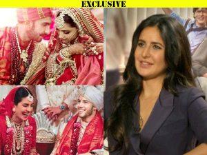 EXCLUSIVE | Katrina Kaif talks about Deepika-Ranveer, Priyanka-Nick wedding pictures: You do feel sentimental