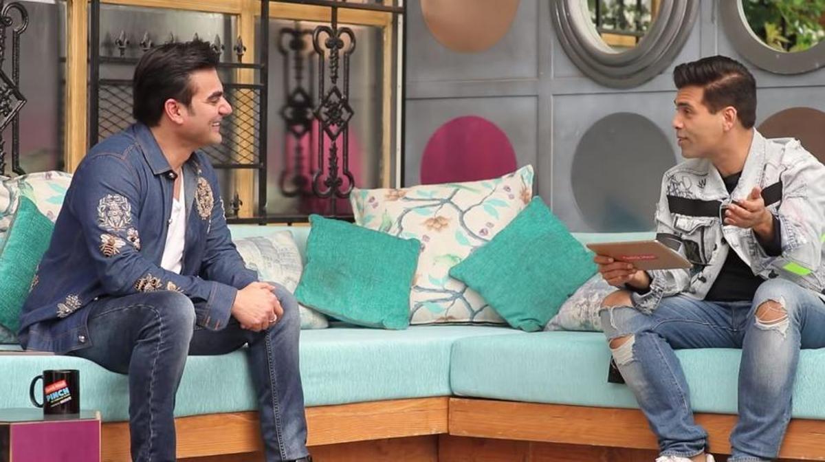 Arbaaz Khan with Karan Johar