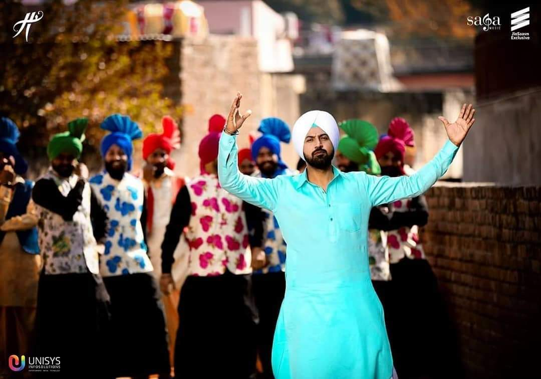 Singer Gippy Grewal and Simi Chahal with their latest track