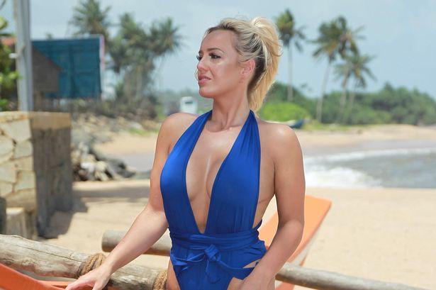 Jennifer Atkin modelling in Sri Lanka