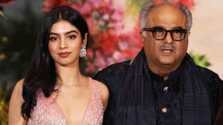 Image result for Boney Kapoor with Khushi