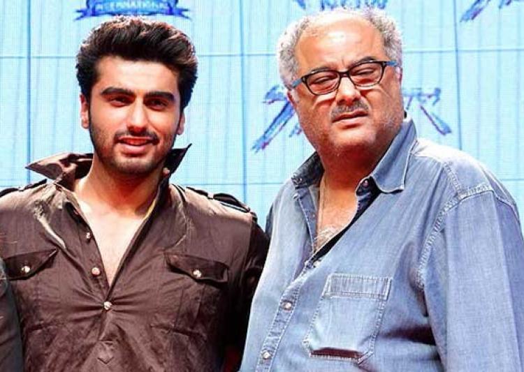 Image result for Boney Kapoor with Arjun kapoor