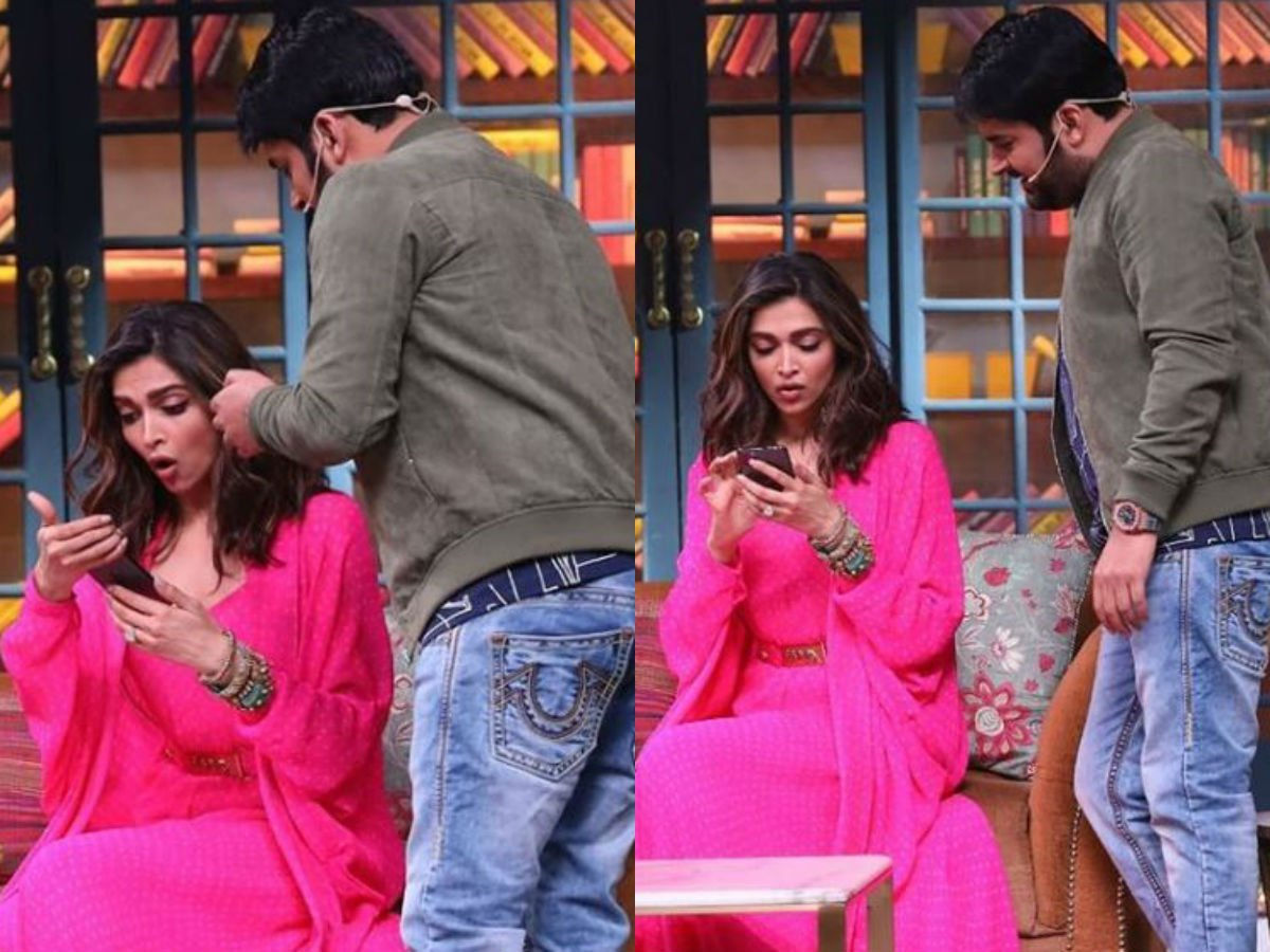 Image result for kapil showed baby picture to deepika padukone