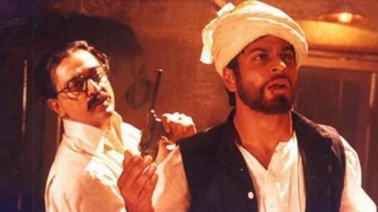 Kamal Haasan and Shah Rukh Khan in a still from Hey Ram (2000).