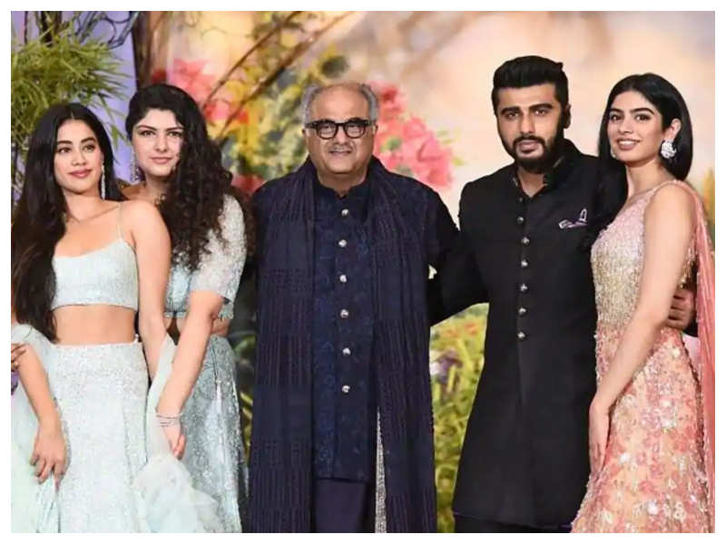 Image result for Boney Kapoor with four kids