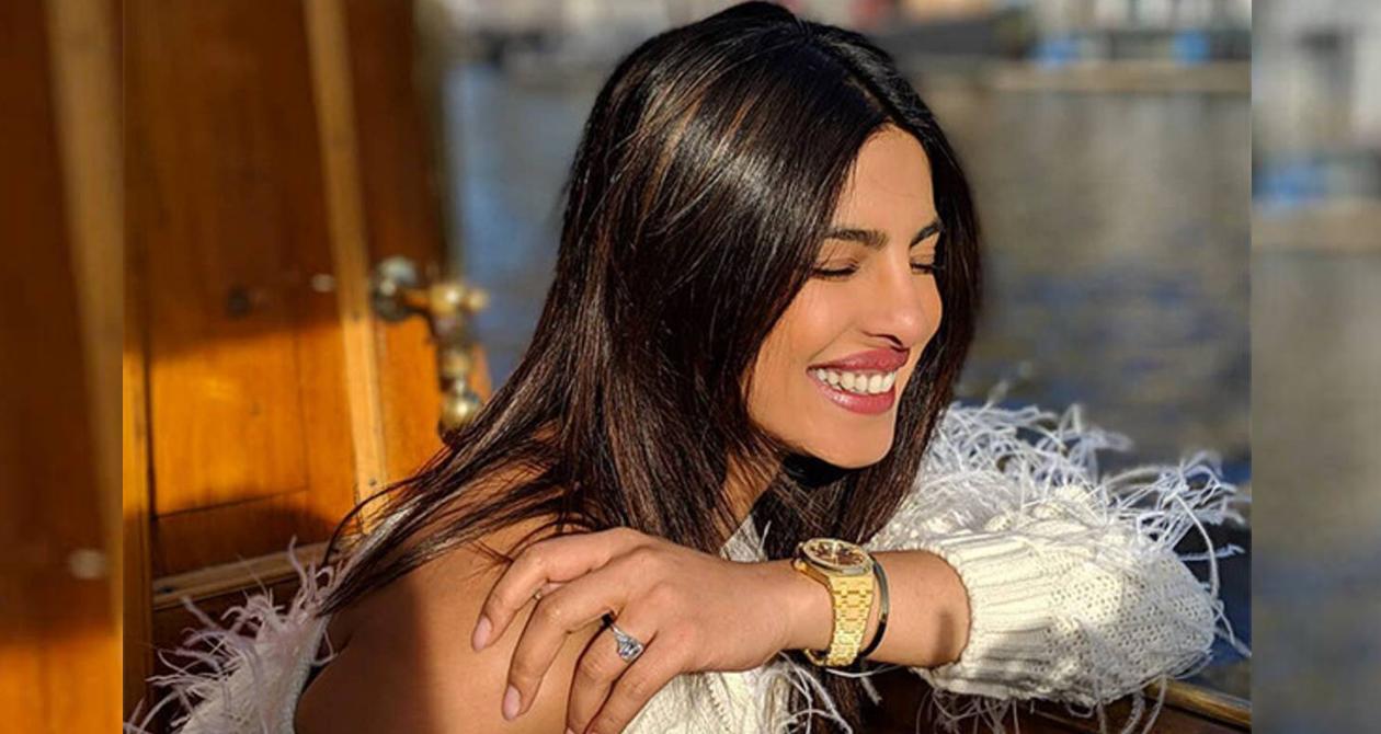 All hearts melt as Priyanka Chopra goes 'desi' in a saree