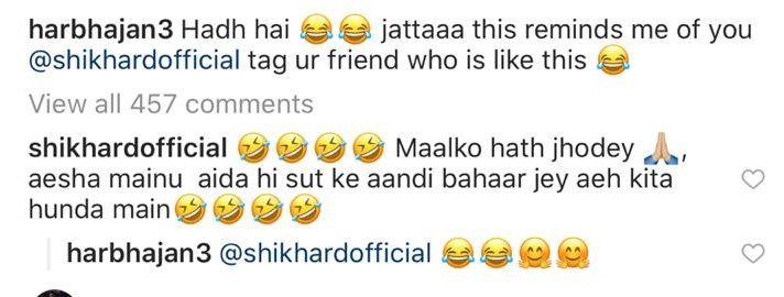 Harbhajan trolls Shikhar