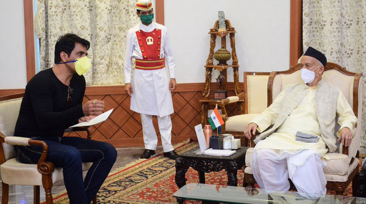 Maharashtra Governor praises actor Sonu Sood; assures help