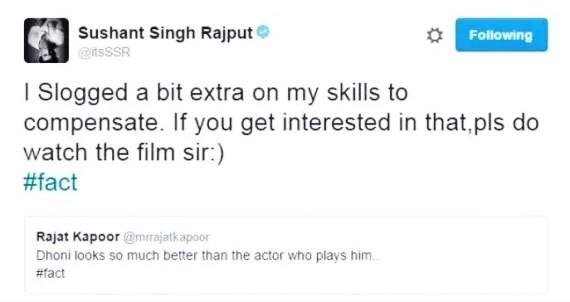Sushant'sreaction on twitter