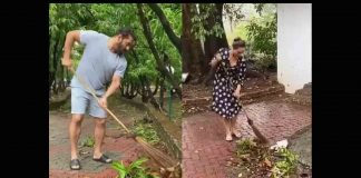 Video of Salman Khan, Iulia Vantur cleaning Panvel farmhouse