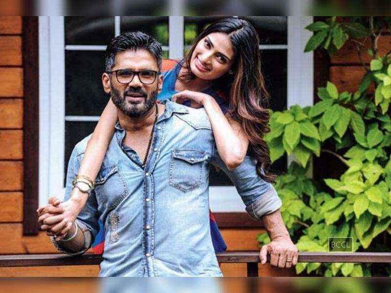 Suniel and Athiya shetty