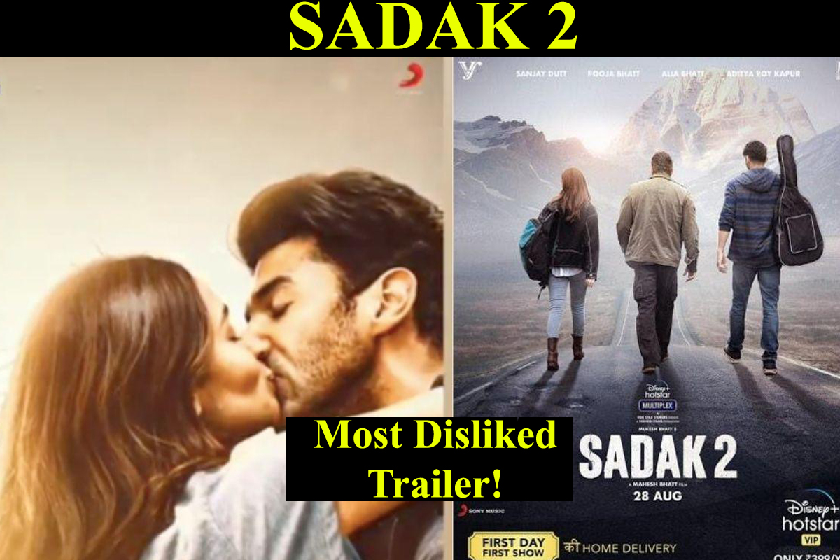 Sadak 2: Alia Bhatt shares a passionate lip-lock with Aditya Roy Kapur while trailer crosses 8M dislikes