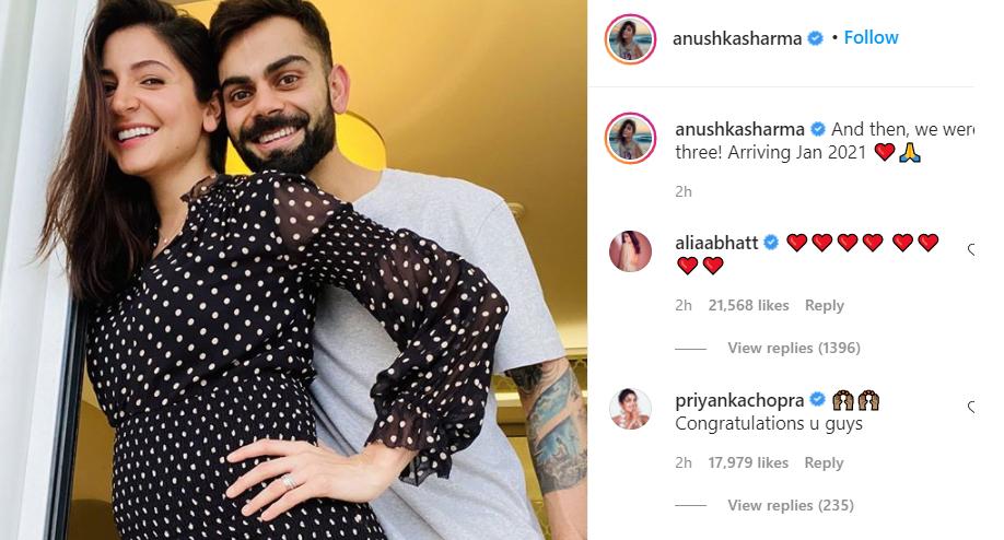 Virat Kohli, Anushka Sharma announce pregnancy news, Share a pic of 'Baby Bump' Virat Kohli, Anushka Sharma announce pregnancy news, Share a pic of 'Baby Bump'