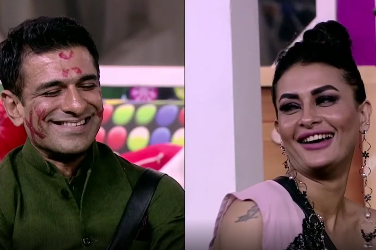 Bigg Boss 14: Pavitra Punia showers Eijaz Khan with kisses on their special date - WATCH